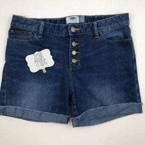 Girls Button Fly Jean Shorts 16R